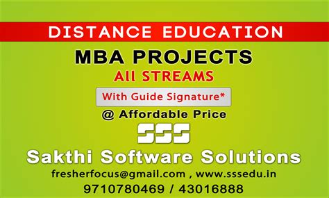 Affordable Mba Project Management by Mba Projects In Chennai