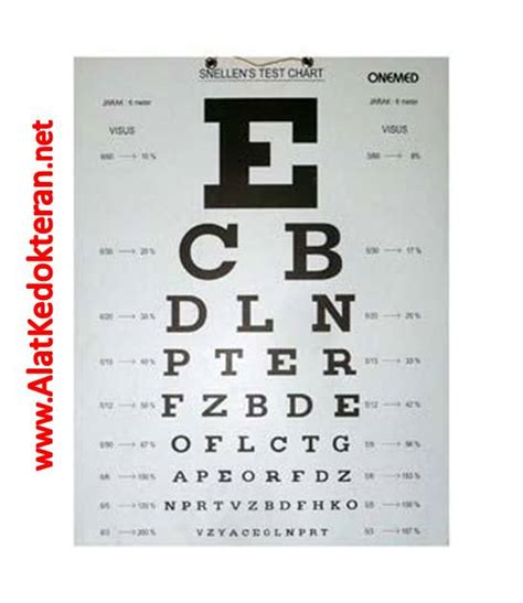Alat Test Mata jual snellen chart huruf alat test mata rabun jauh mata