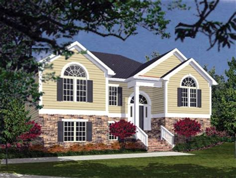 landscape plans for split foyer home house plans home