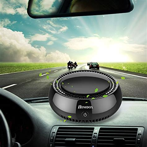 homdox car air purifiertrue hepa travel usb auto air