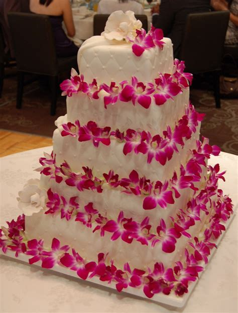 Pink Flower Wedding Cake wedding flowers wedding cakes pink flowers