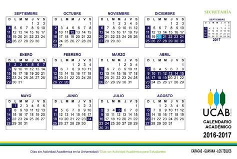 Calendario R Calendario Acad 233 Mico Ucab 2016 2017 By Ucab Caracas Issuu