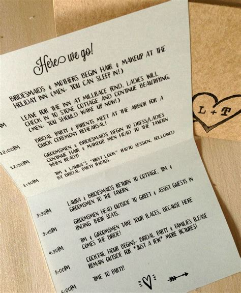 bridal itinerary template best 25 wedding itinerary template ideas on