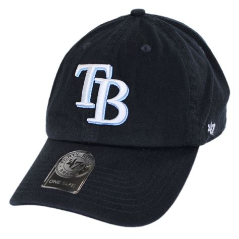 47 brand ta bay rays mlb clean up strapback baseball