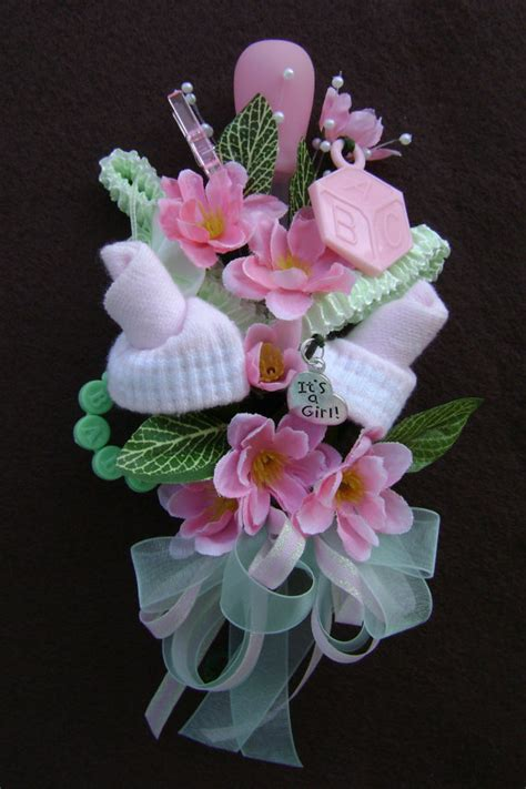 Corsage For Baby Shower by Baby Shower Corsage Baby Bootie Corsage New By