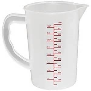 winware polypropylene measuring jug 1 litre capacity