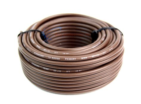 12 awg power wire 6 way trailer wire light cable for harness 50 ft each roll