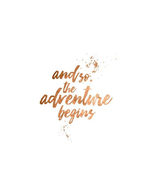 gold wallpaper quote the adventure begins quotes words pinterest