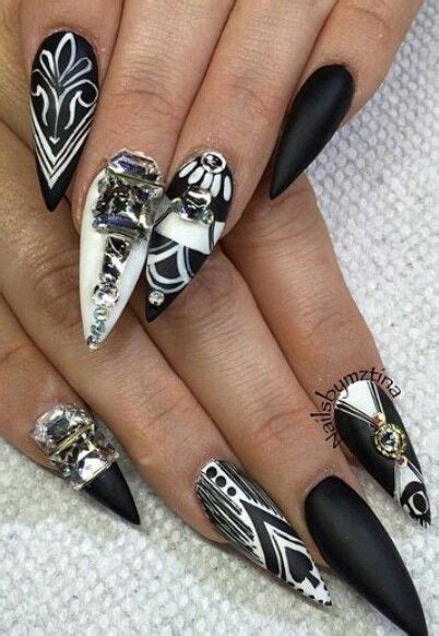 Black And White Nail Designs For Nails