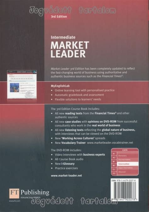 Market Leader Intermediate Coursebook And Class Cd Pack Market Leade market leader 3rd edition intermediate course book with dvd rom and myenglishlab access code