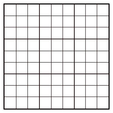 blank sudoku grid clipart 9x9 empty sudoku grid