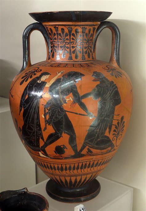 vasi greci scuola primaria file anfora attica con ercole contro nereo 510 500 ac ca