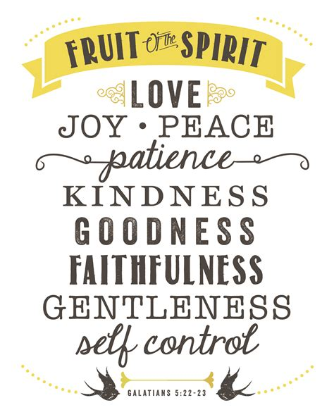 fruits of the spirit someone showed me the fruit of the spirit to the bright