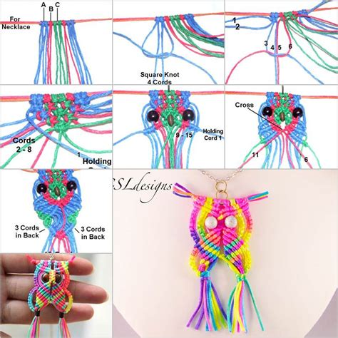How To Do Macrame - rainbow macrame owl diy tutorial beesdiy