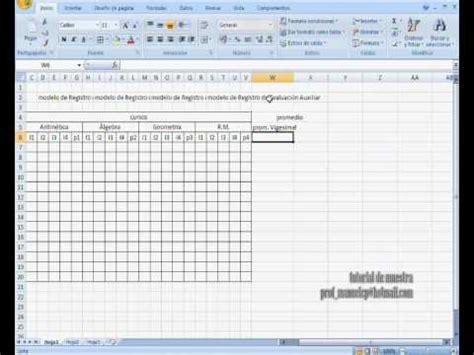 elaboracion de un registro automatico en excel parte 2 elaboracion de un registro automatico en excel parte 2