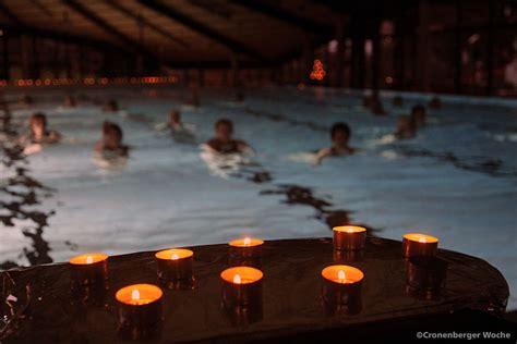 cronenberg schwimmbad cronenberger woche 187 1 000 lichter leuchteten im