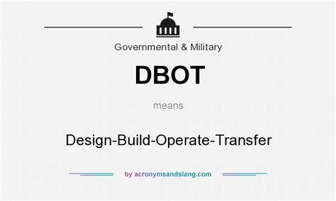 design build meaning dbot design build operate transfer in government