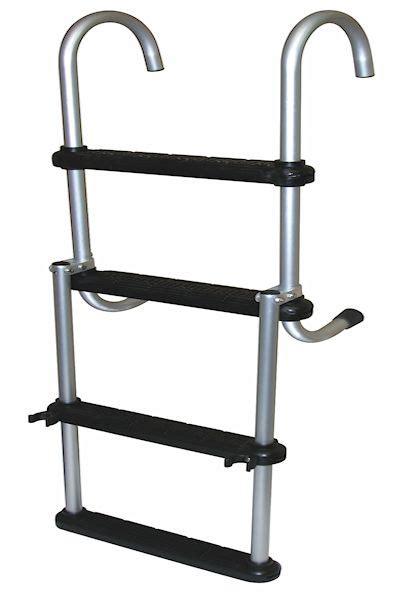 boat ladder reviews asc4 folding pontoon ladder boat ladder central