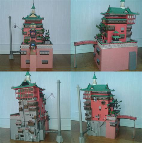Spirited Away Papercraft - bath house from spirited away by minidelirium on deviantart