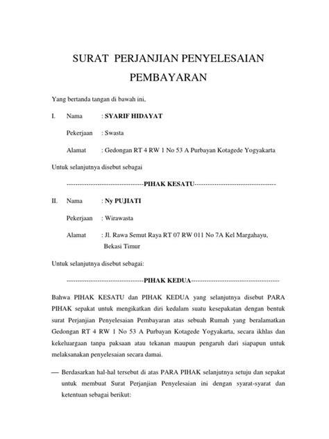 format surat kuasa pencairan jaminan uang muka hasil gambar untuk contoh surat pernyataan perjanjian