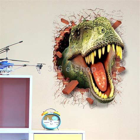 dinosaur wall stickers 3d dinosaur wall sticker decal in wall stickers from