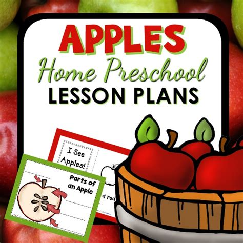 apples home preschool lesson plan home preschool 101