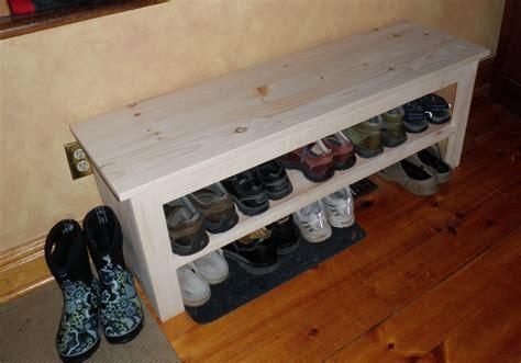 dear guide   wood shoe rack bench plans