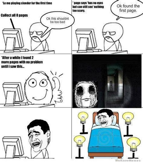 Slender Man Meme - 35 best slenderman comics images on pinterest creepy