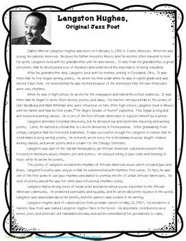 langston hughes biography quiz langston hughes biography poetry analysis by jenifer