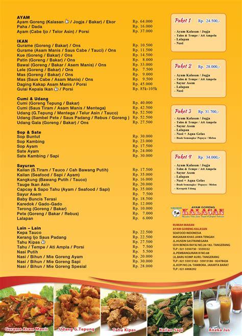 brosur kalasan update maret info kuliner