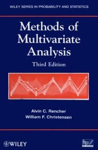 Methods Of Multivariate Analysis 3rd Edition