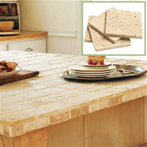 Tile Kitchen Island Countertop 1000 Ideas About Travertine Countertops On