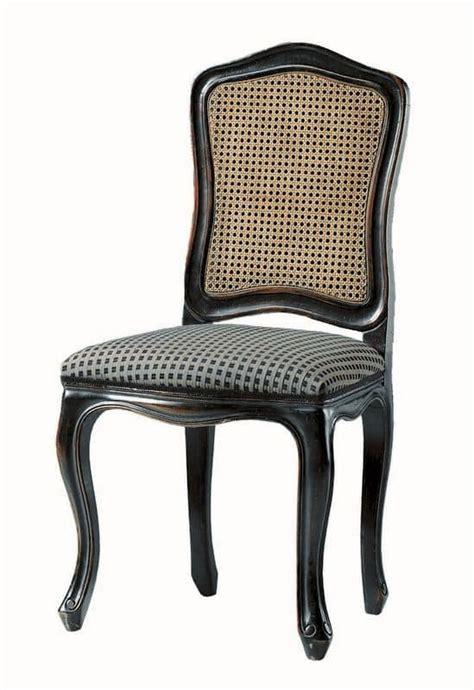 sedie classiche di lusso sedia laccata in nero sedile imbottito schienale in