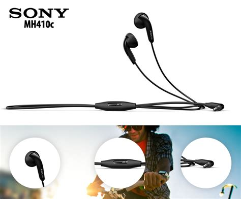 Sony Earphone Mh410c sony mh410c headphones earphones w mic for xperia samsung