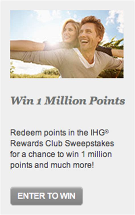 Ihg Sweepstakes - would you bid with your points for chance to win 1 000 000 michael w travels