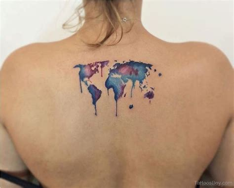 watercolor tattoo back 64 map tattoos for back