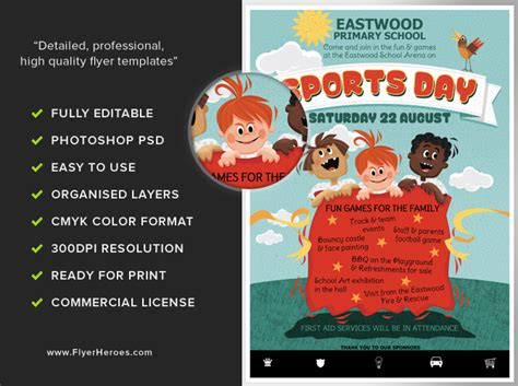 sports flyers templates kid s sports day flyer template flyerheroes