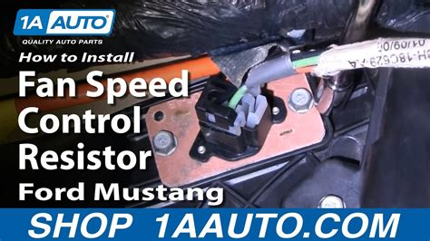 install replace fan speed control resistor ford