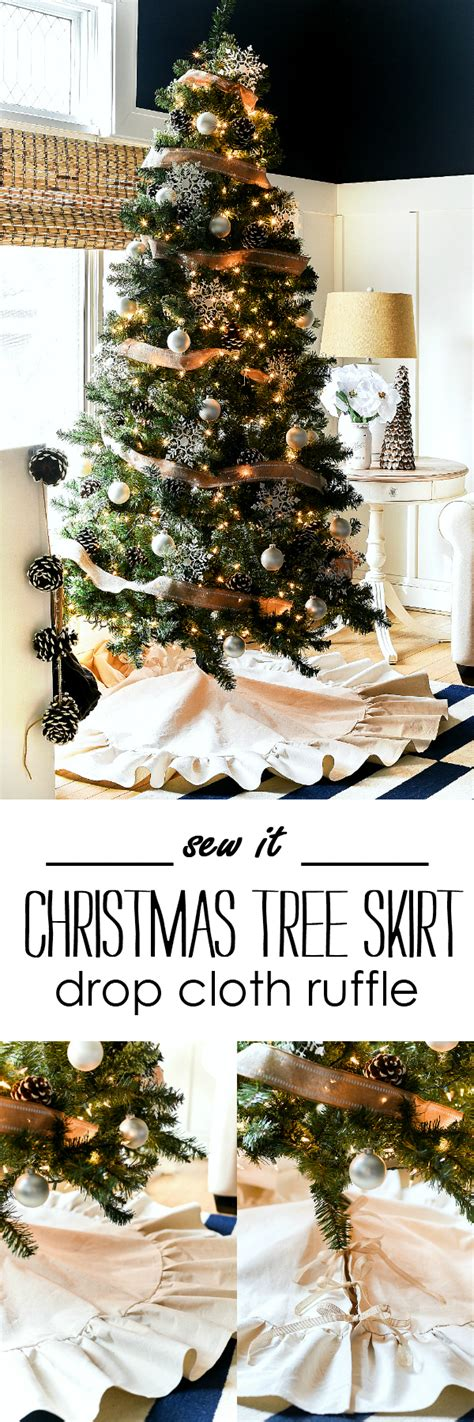 closest christmas tree drop drop cloth ruffle tree skirt it all started with paint