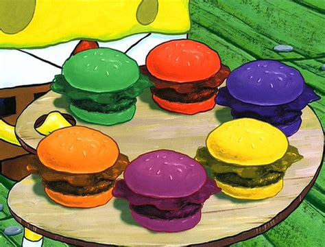 colored krabby patty nautical nonsense