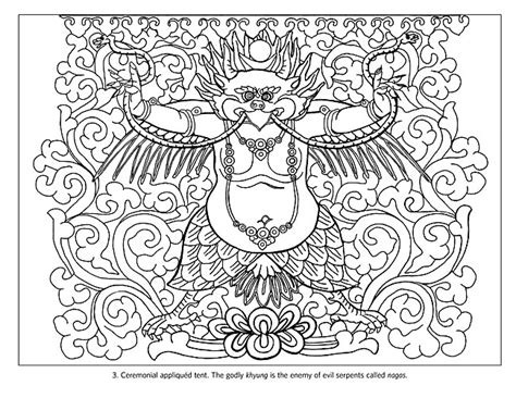 tibetan design free buddhist symbol coloring pages