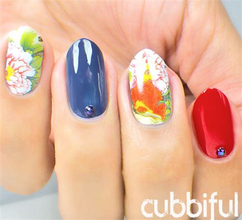 Exo Nail Sticker By Weare Eri cubbiful floral waterdecals born pretty store review