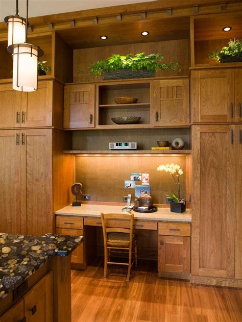 kitchen cabinet desk ideas tall cabinets for storage and desk area kitchen ideas
