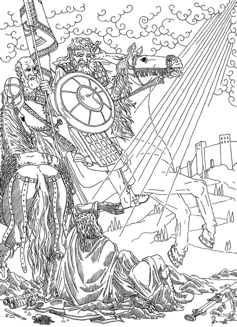 Saint Paul On The Road To Damascus By Padraicbenedictus On Paul On The Road To Damascus Coloring Page
