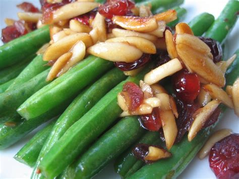 Almonds Detox Mercuy by Recipe Green Beans With Cranberries And Almonds