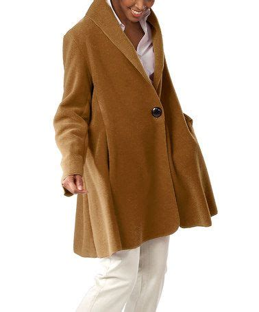 janska swing coat look at this zulilyfind caramel button swing coat