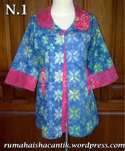 Batik Blus Bolero 2 In 1 atasan blus grosir gamis kaos rayon surabaya grosir