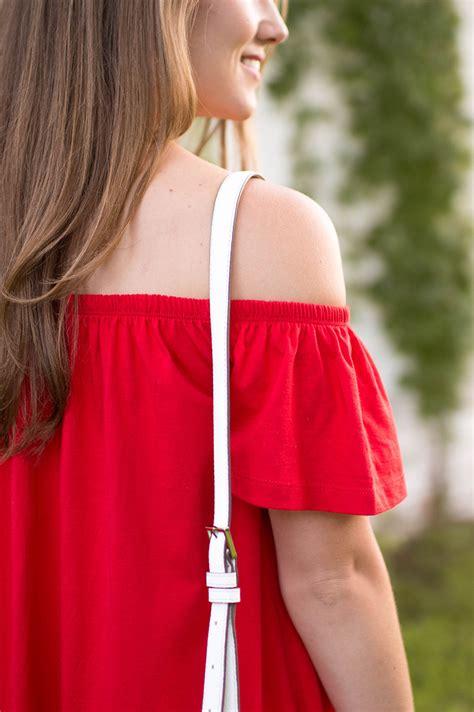 red   shoulder sundress  lonestar state  southern