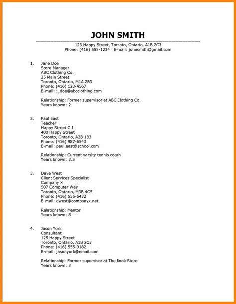 Reference Exles For Resume by 10 How To Put Reference On Resume Homed