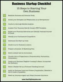 starting a business the 15 for a successful business books checklist 15 steps to starting your own business http